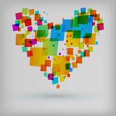 Abstrakt hjärta färgstarka bakgrund — Stockvektor