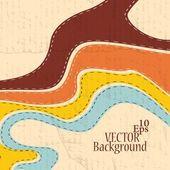 Astratto retrò strisce sfondo - illustrazione vettoriale — Vettoriale Stock