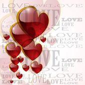 Abstract glossy heart on white - vector illustration — Vetorial Stock