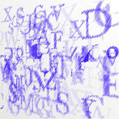 Abstract alphabet background sketch - vector illustration — 图库矢量图片