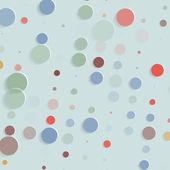 Abstract geometric retro polka dot background - vector illustration — Stock Vector