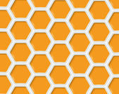 Abstract hexagon s design template - vector illustration — Stock Vector
