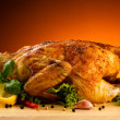 Roasted chicken and vegetables — Stock Photo #20950905