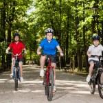 familia activa ciclismo — Foto de Stock