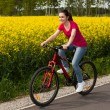 Girl biking — Stock Photo #22550069