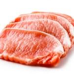 Fresh raw pork on white background — Stock Photo #22550969