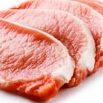 Fresh raw pork on white background — Stock Photo #22551003