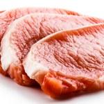 Fresh raw pork on white background — Stock Photo #22551047
