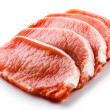 Stock Photo: Fresh raw pork on white background