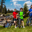 Family biking — Stock Photo #23610535