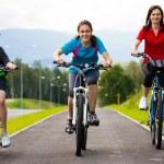 Healthy lifestyle - family biking — Stock Photo