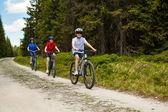 Mode de vie sain - famille vélo — Photo