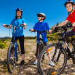 Healthy lifestyle - family biking — Stockfoto