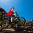 Girl biking — Stock Photo #24036821