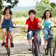 Healthy lifestyle - family biking — Stock Photo