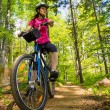 Stock Photo: Healthy lifestyle - woman cycling