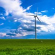 Wind turbine - white energy — Stock Photo