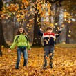 Kids playing in autumn park — Stock Photo #31702189