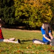 Young people exercising outdoor — Stock Photo #31988965