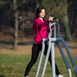 Woman exercising outdoor — Stock Photo