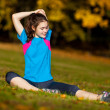 Woman exercising outdoor — Stock Photo #32002489