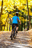 Healthy lifestyle - teenage girl biking — Stock Photo
