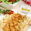 Chicken, rice and vegetables — Foto de Stock