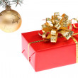 Christmas gift box and decoration  — Stock Photo