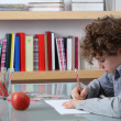 Boy learning at home — Stock fotografie