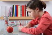Girl learning — Stock Photo