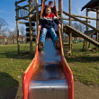 Kid on slide — Stock Photo