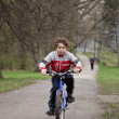 Stock Photo: Boy cycling