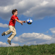 Boy with a ball — Stock Photo #32715539