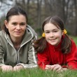 Mother with daughter in park — Stock fotografie