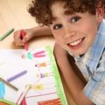 Boy drawing — Stock Photo #32718757