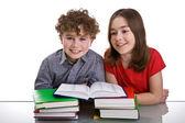 Kids doing homework — Stockfoto