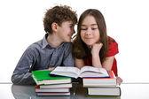 Kids doing homework — Stock Photo