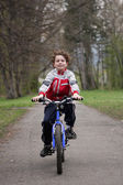 Boy cycling — Stock Photo