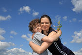 Mom and son — Stock Photo