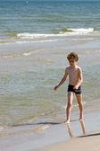 на пляже — Стоковое фото