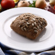 Stock Photo: Wholemeal bun