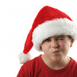 Young boy as Santa Claus — Stock Photo