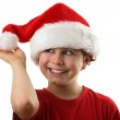 Boy as Santa Claus — Stock Photo