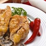 Stuffed fried chicken fillets — Stock Photo #32750145
