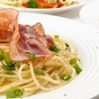 Stock Photo: Pasta with bacon and chives