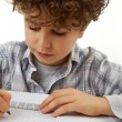 Boy doing homework — Stockfoto #32753837