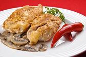 Filetes de pollo frito relleno — Foto de Stock