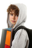 Young boy holding books — Stock Photo