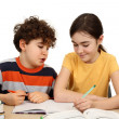Kids doing homework  — Foto Stock