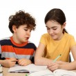 Kids doing homework  — Lizenzfreies Foto